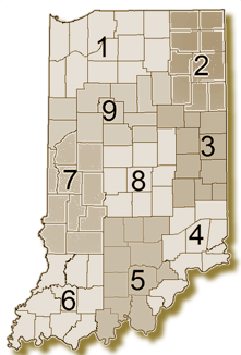 Indiana Regions Map